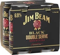 Jim Beam Black Double Serve 6.9% Can 375mL