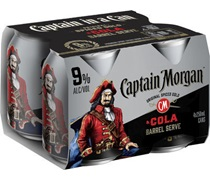 Captain Morgan & Cola 9% Can 250ml