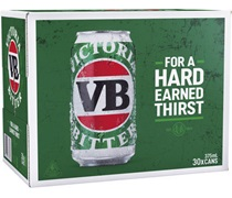 Victoria Bitter Block Can 375mL