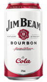 Jim Beam White & Cola Can 375mL (4 Pack)