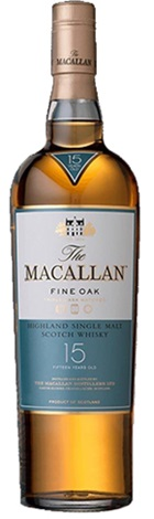 The Macallan 15YO Fine Oak Whisky 700mL