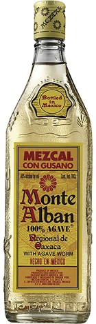 Monte Alban Mezcal With Agave Worm 700mL