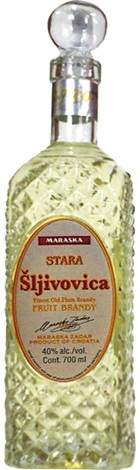 Maraska Slivovitz Plum Brandy Decanter 700mL