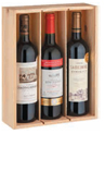 Bordeaux Box 3 Bottle Gift box 750mL