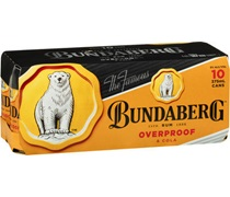 Bundaberg OP & Cola Cans 375mL (10 pack)