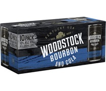 Woodstock Bourbon & Cola 10% Cans (10 pack) 200mL