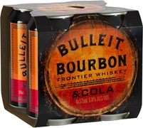 Bulleit & Cola 6% Can 375mL