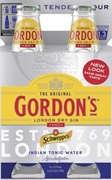Gordons & Schweppes (4Pack) Tonic Bottle