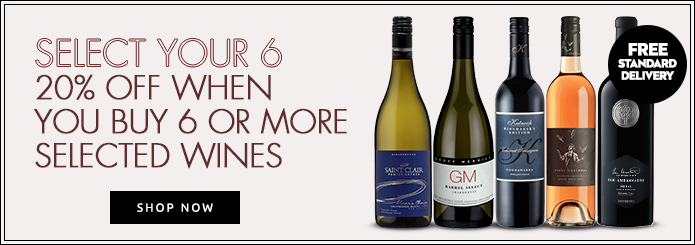 Select your 6 20% off when you buy 6 or more selected wines - Shop Now